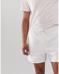 Pantaloncini bianchi con coulisse di New Look in White da Uomo