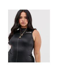 Esclusiva Plus - Vestito a fascia nero effetto bagnato di PUMA in Black