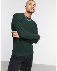 Only & Sons – Strickpullover mit Raglan-Ärmeln in Green für Herren