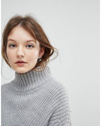 Weekday - Metallic Face Earrings - Lyst