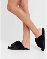 Черные Пушистые Слиперы Go-черный Sorel, цвет: Black