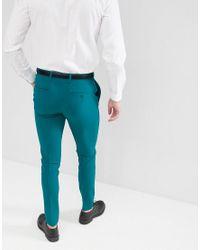 Pantalon habillé super ajusté - Bleu sarcelle ASOS pour homme en coloris Green