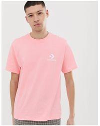 T-shirt à petit logo Converse pour homme en coloris Pink