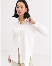 Camisa larga Whistles de color White