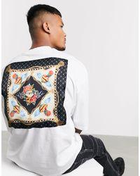 Camiseta extragrande con panel sedoso en la parte posterior y bolsillo ASOS de hombre de color Multicolor