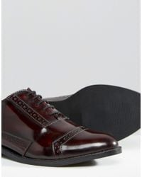 ASOS - Brown Make-up Wide Fit Leather Brogues for Men - Lyst