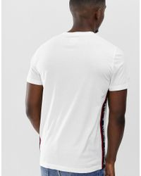Abercrombie & Fitch Logo Tape Sleeve T-shirt In White for men