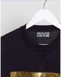 Черная Футболка С Логотипом -черный Versace Jeans для него, цвет: Black