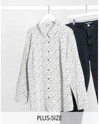 Camicia con stampa geometrica di Brave Soul in White