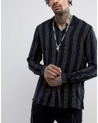 Reclaimed (vintage) - Metallic Inspired Skull & Bone Beaded Necklace Exclusive To Asos for Men - Lyst