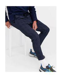 Only & Sons – Elegante, karierte Jersey-Hose in Blue für Herren