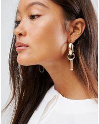 ASOS Multicolor Open Shape Link Earrings
