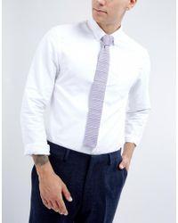 Noak | Purple Knitted Square Tie In Stripe for Men | Lyst