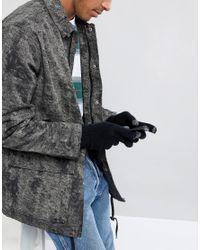 Gants en laine d'agneau pour cran tactile Glen Lossie pour homme en coloris Black