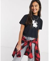 Obey Cropped T-shirt With Evil Angel Graphic-black