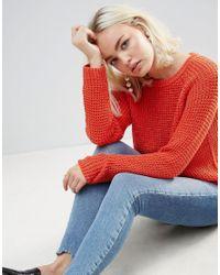 Soaked In Luxury Orange Open Knit Jumper