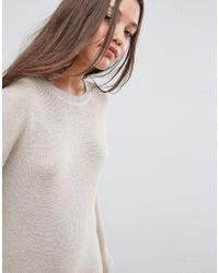ASOS - Natural Eco Knitted Dress In Super Soft Yarn - Lyst
