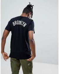 KTZ Nba Brooklyn Nets T-shirt With Back Print In Black for men
