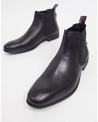 Черные Кожаные Ботинки Челси -черный Цвет Ben Sherman для него, цвет: Black