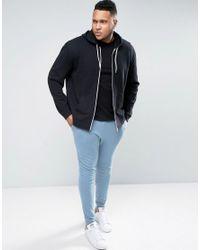 ASOS Plus Super Skinny Joggers In Blue for men
