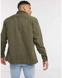 Рубашка Навыпуск Цвета Хаки С Вельветовым Воротником -зеленый Topman для него, цвет: Green