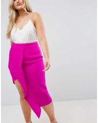 ASOS Pink Origami Rib Pencil Skirt