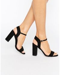 New Look Black Barely There Block Heeled Sandals