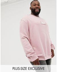PUMA PLUS – Sweatshirt aus Bio-Baumwolle in Pink für Herren