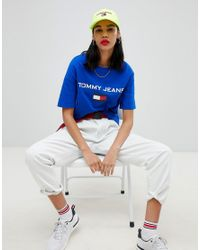 Tommy Hilfiger Blue Tommy Jean 90s Capsule 5.0 Logo T-shirt