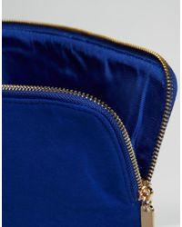 Faith Pringle Electric Blue Foldover Clutch Bag