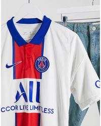 Paris Saint-Germain 2020/21 - Maglietta stadio trasferta bianca di Nike Football in White da Uomo