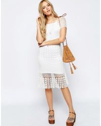 ASOS Natural Revive Crochet Dress