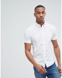 Only & Sons Kurzrmliges, schmal geschnittenes Hemd aus Stretch-Baumwolle in White für Herren