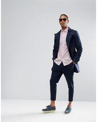 Reiss | Pink Slim Smart Shirt In Melange for Men | Lyst