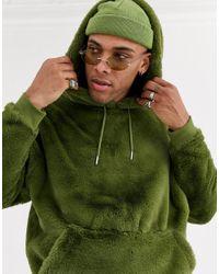 Felpa con cappuccio di ASOS in Green da Uomo
