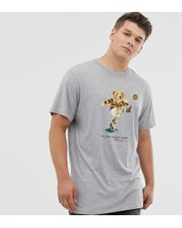 Big & Tall - T-shirt de rugby à imprimé ours - Gris chiné Polo Ralph Lauren pour homme en coloris Gray