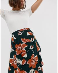 Юбка С Цветочным Принтом И Запахом -мульти Ichi, цвет: Multicolor