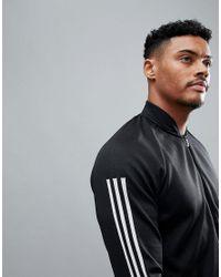 Adidas Black Id Knit Bomber Jacket for men