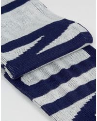 Abuze London | Gray Chevron Knitted Scarf With London Script for Men | Lyst