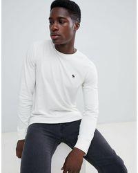 Pop Icon - Top à manches longues avec logo - cassé Abercrombie & Fitch pour homme en coloris White
