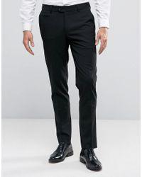ASOS Skinny Smart Trousers In Black for men