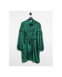 Платье-рубашка Зеленого Цвета С Принтом Пейсли И Запахом -зеленый Цвет TOPSHOP, цвет: Green