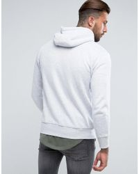 Illusive London - Gray Zip Through Hoodie In Grey With Funnel Neck for Men - Lyst