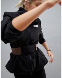 ASOS 4505 Black Run Jacket With Belt Detail