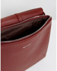 Matt & Nat - Foldover Cross Body Bag In Deep Red - Lyst