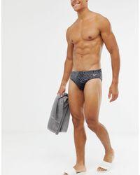 Alloy - Slip bikini neri con stampa geometrica di Nike in Black da Uomo