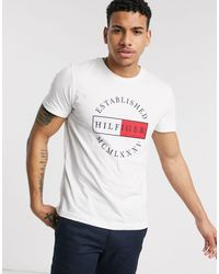 Tommy Hilfiger White Corp Circular Logo T-shirt for men