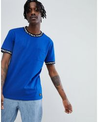 DC Shoes T-shirt With Neck Taping Detail In Blue for men