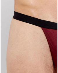ASOS - Red Thong In Burgundy for Men - Lyst