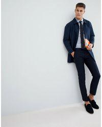 ASOS - Gray Skinny Shirt In Grey for Men - Lyst
